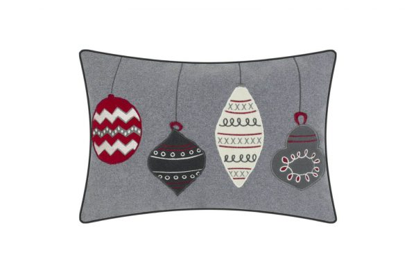 Four Festive Baubles Cushion