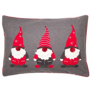 Trio Festive Santas Cushion