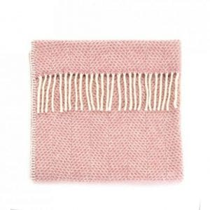 Dusky Pink Baby Pram Blanket