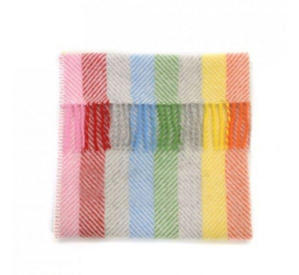 Rainbow Stripe Baby Pram Basket