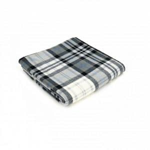 Cottage Style Grey/Black Check Printed Fleece