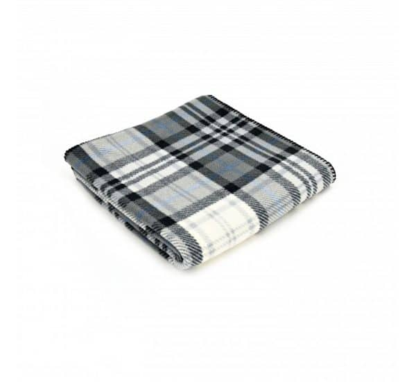 Cottage Style Grey/Black Check Printed Fleece