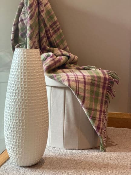 Cottage Style Throw In Pink And Green
