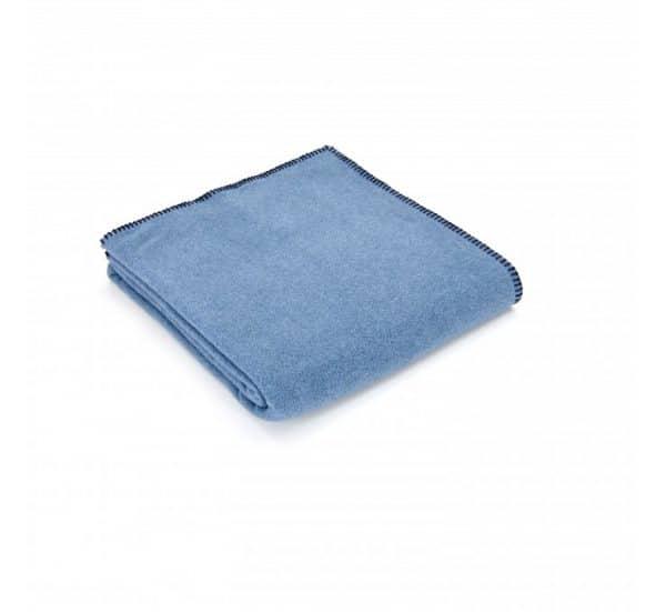 Denim Blue Fleece Throw