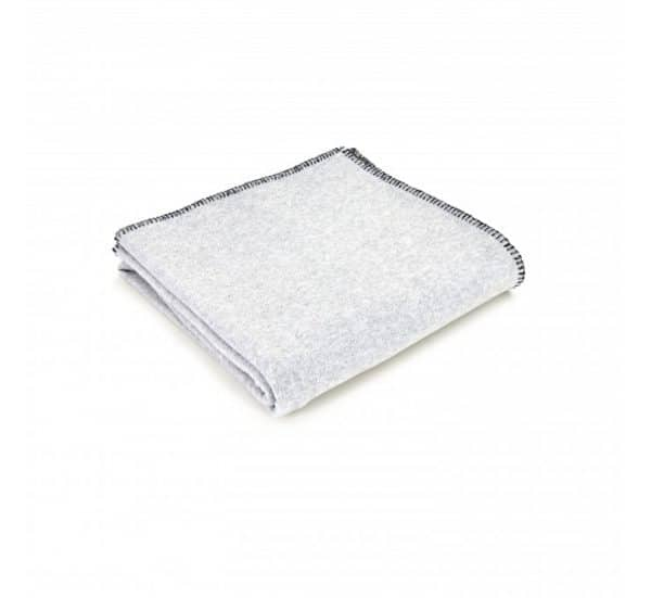 Silver Grey Fleece Throw
