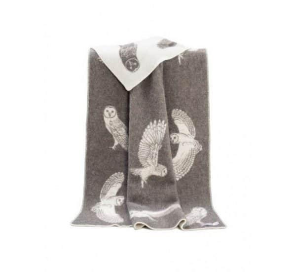 Wool Barn Owl Throw