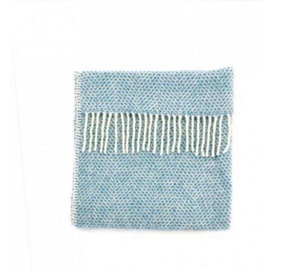 Beehive Ram Blanket In Petrol Blue