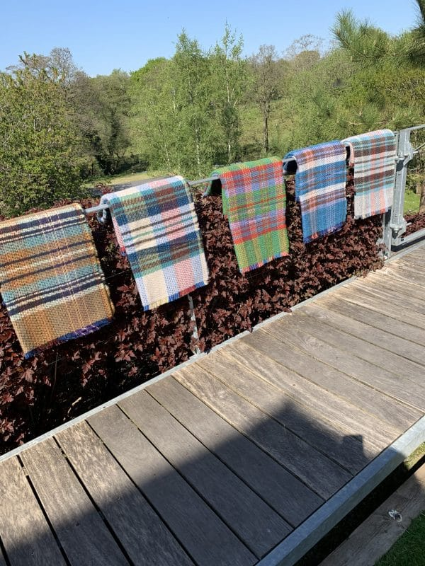 Medium Size Assorted Coloured Recycled Wool Blankets