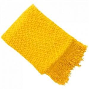 Textured Rhine Mustard Throw