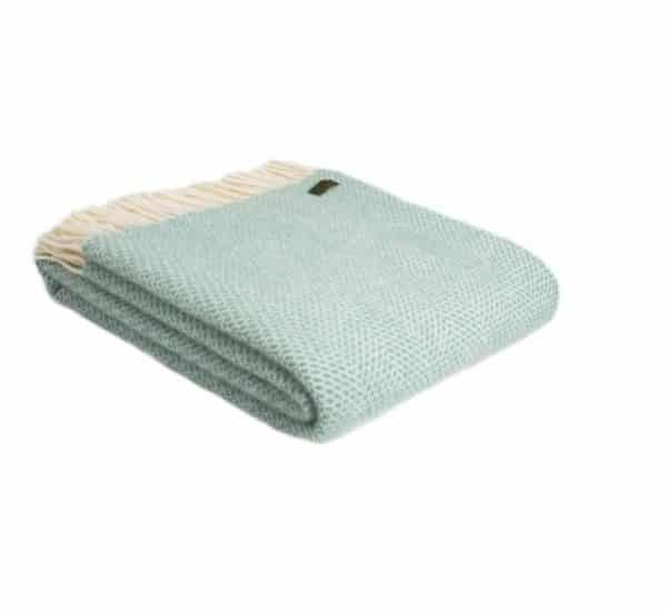 Wool Beehive Throw in Ocean Blue