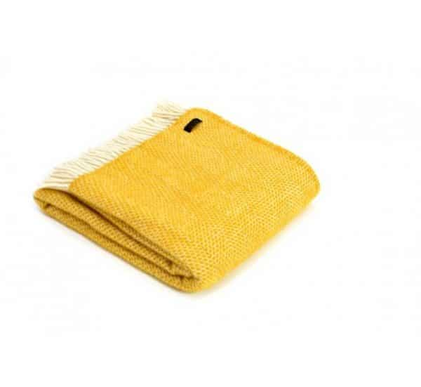 Wool Beehive Throw in Yellow
