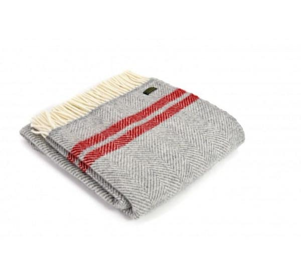 Throw-Fishbone-2-Stripe-Silver-Grey-Red
