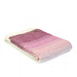 Ombre Throw in Rosewood
