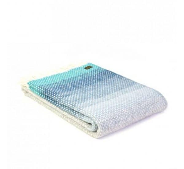 Ombre Throw in Seaside Blue