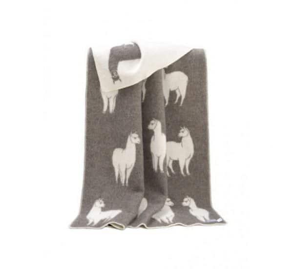 Wool Alpaca Themed Throw