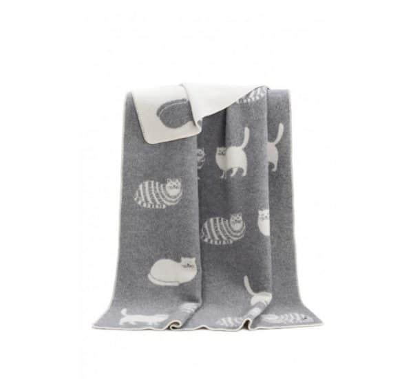 Cat Themed Reversible Throw
