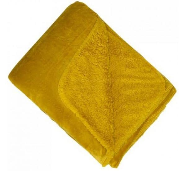 Mustard Cosy Throw