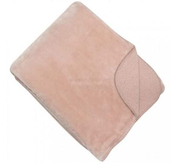 Cosy Light Pink Reversible Throw