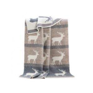 Deer Themed Reversible Blanket