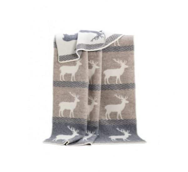 Deer Themed Reversible Blanket