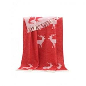 Deer Themed Wool Throw