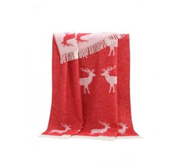 Deer Themed Wool Throw