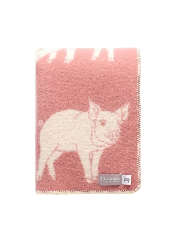 Wool Piglet Themed Throw