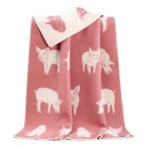Piglet Themed Reversible Blanket