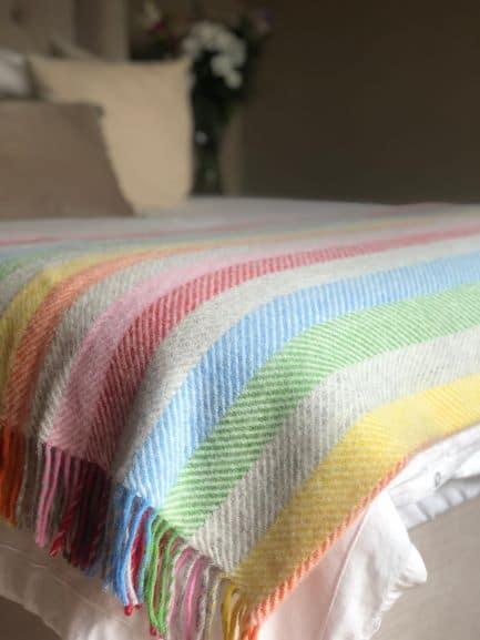 Rainbow Stripe Throw