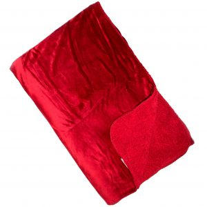 Cosy Scarlet Reversible Throw