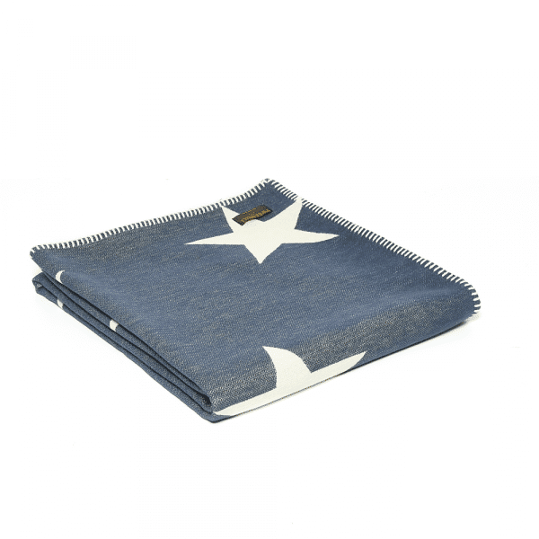 Throw Cotton Navy Star