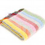 Pure New Wool Rainbow Stripe Throw