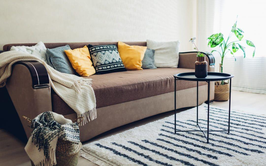 throw blanket in living room