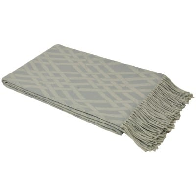 Kampala Throw In Taupe and White