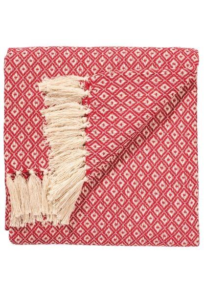 Diamond weave red