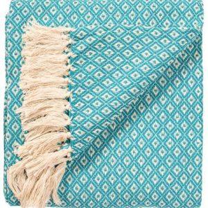 Diamond weave turq