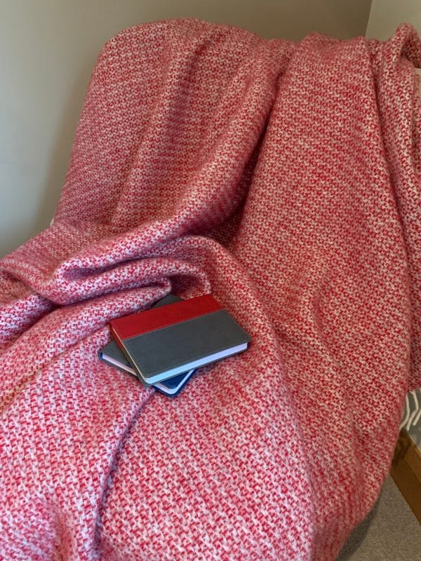 Illusion Throw in Red and Silver