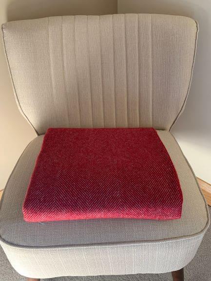 Herringbone grey red