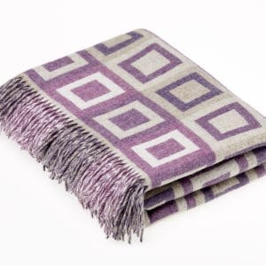 Lambswool Doublesquare Lilac