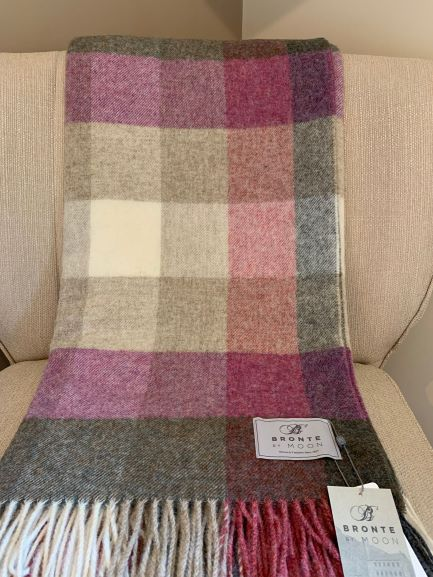 Harlequin Heather new wool Throw by Bronte